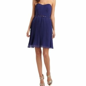French Connection Shelby Blue Pleated Dress